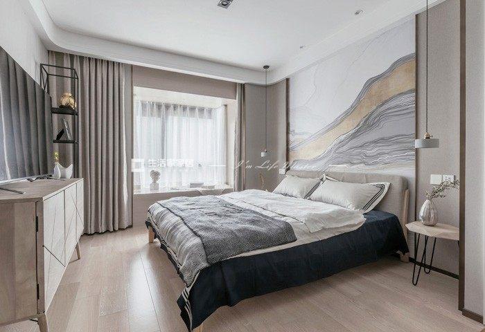 新中式寝室装修成果图