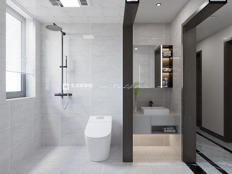 新中式卫生间装修效果图