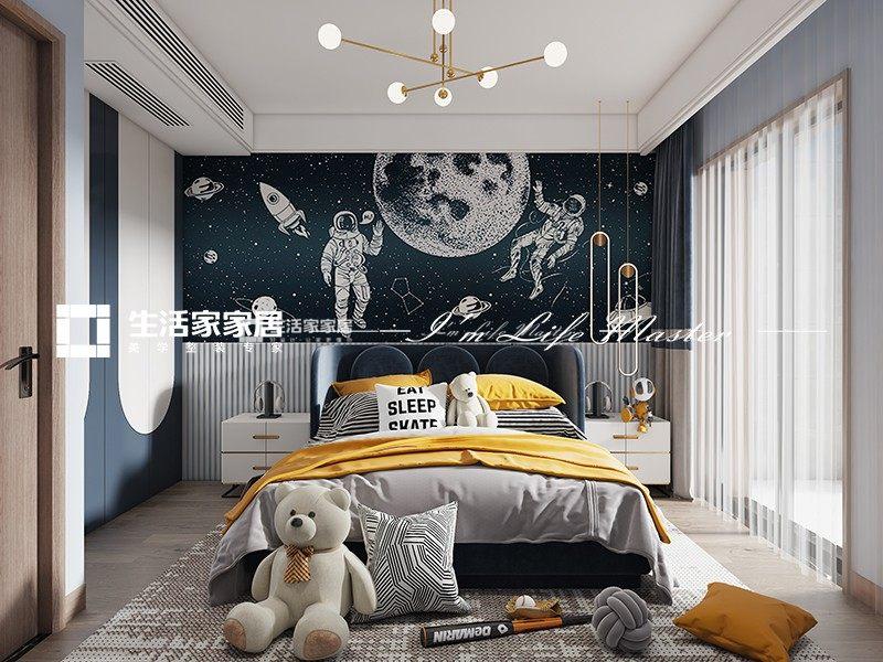 新中式次卧装修效果图