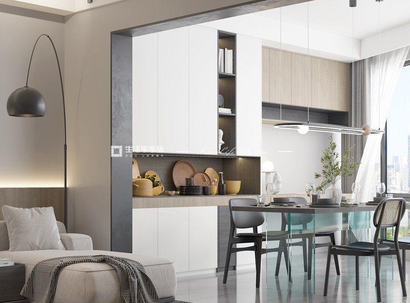 现代厨房装修效果图