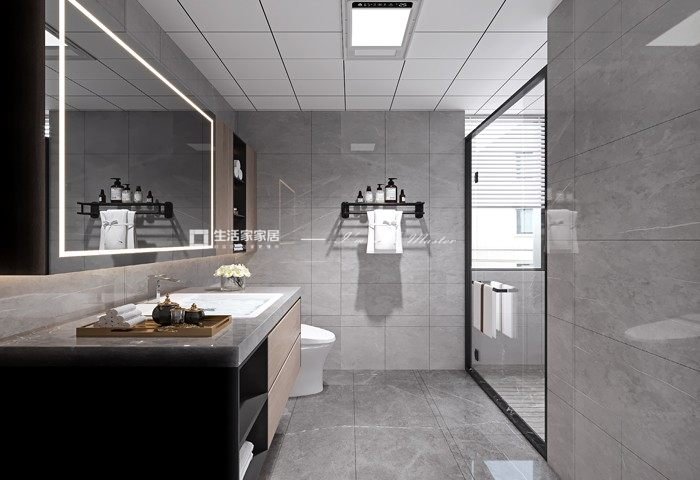 现代卫生间装修效果图